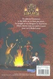 Manuel de survie de koh-lanta - 4ème de couverture - Format classique