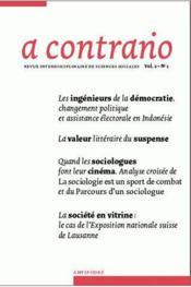 Revue A Contrario N.1/2 - Couverture - Format classique