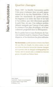 Quartier charogne - 4ème de couverture - Format classique