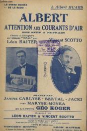 Albert Attention Aux Courants D'Air. - Couverture - Format classique