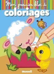 Mon premier bloc de coloriages ; la ferme, mouton - Couverture - Format classique