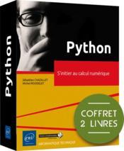 Python ; coffrets de 2 livres : s'initier au calcul numérique - Couverture - Format classique