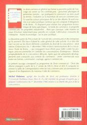 Droit commercial ; commercants et fonds de commerce ; concurrence et contrats du commerce ; 2e edition - 4ème de couverture - Format classique