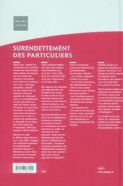Surendettement des particuliers (3e edition) - 4ème de couverture - Format classique