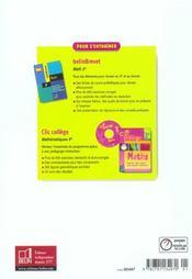 Nouveau decimale. math 3e - livre de l'eleve - 4ème de couverture - Format classique