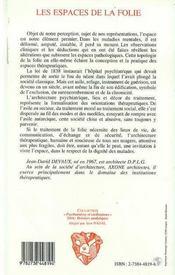 Les Espaces De La Folie - 4ème de couverture - Format classique