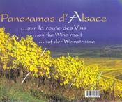 Panoramas D'Alsace - 4ème de couverture - Format classique