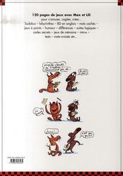 Max et Lili ; le grand livre-jeux t.1 - 4ème de couverture - Format classique