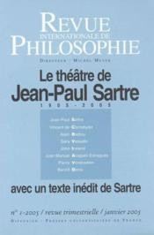 Revue Internationale De Philosophie N.231 ; Théâtre Et Sartre (édition 2005) - Couverture - Format classique