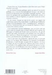 La règle du jeu N.30 ; psychanalyse contre-attaque - 4ème de couverture - Format classique