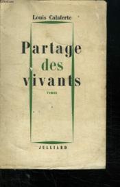 Partage Des Vivants. - Couverture - Format classique