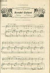 L'ILLUSTRATION du 8 septembre 1908 - A Mademoiselle Elise Vigneau - RONDEL GALANT - Poesie de CH. BERNARD et musique de EDM. FILIPPUCCI. - Couverture - Format classique
