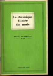 La Chronique Filmee Du Mois N°24 - Couverture - Format classique