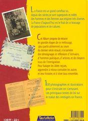 Mon Album De L'Immigration En France - 4ème de couverture - Format classique