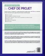 Les fiches outils du chef de projet - 4ème de couverture - Format classique