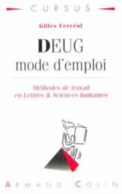 Ferreol Deug Mode D'Emploi - Couverture - Format classique