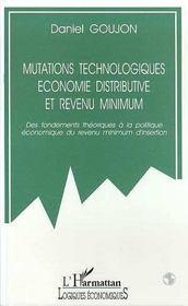 Mutations Technologiques, Economie Distributive Et Revenu Minimum - Intérieur - Format classique