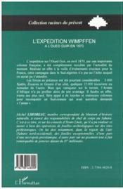 Expedition Wimpffen (L') A L'Oued Guir En 1870 - 4ème de couverture - Format classique