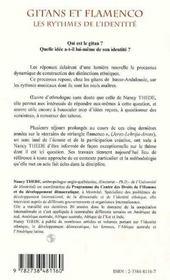 Gitans et flamenco ; les rythmes de l'identité - 4ème de couverture - Format classique
