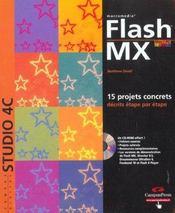 Flash Mx ; 15 Projets Concrets Decrits Etape Par Etape - Intérieur - Format classique