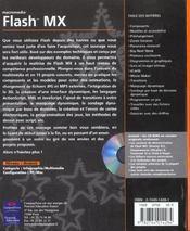 Flash Mx ; 15 Projets Concrets Decrits Etape Par Etape - 4ème de couverture - Format classique