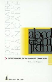Dictionnaire De Langue Francaise - Couverture - Format classique