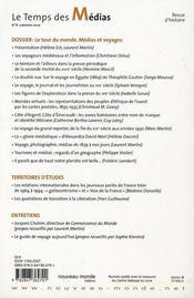 Revue Temps Des Medias N8 - 4ème de couverture - Format classique