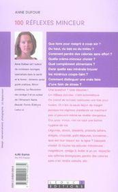 100 refelxes minceur - 4ème de couverture - Format classique
