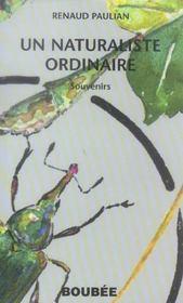 Un naturaliste ordinaire - Intérieur - Format classique