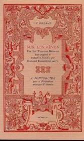 Sur Les Reves - Couverture - Format classique