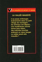 La vallee maudite - 4ème de couverture - Format classique