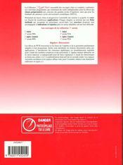 Algebre Geometrie Pcsi Premiere Annee - 4ème de couverture - Format classique