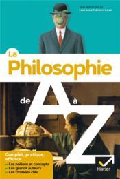 La philosophie de A à Z - Couverture - Format classique