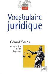 Vocabulaire juridique - Intérieur - Format classique
