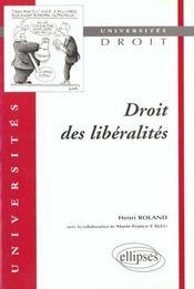 Droit Des Liberalites - Intérieur - Format classique