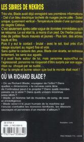 Blade t.154 ; les sbires de Nekros - 4ème de couverture - Format classique