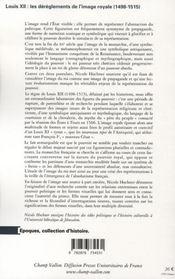 Louis XII ; les dérèglements de l'image royale - 4ème de couverture - Format classique