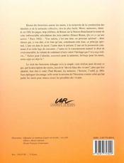 Autour Des Morts. Memoire Et Identite. 5e Colloque International Sur La Sociabilite, Rouen, 19-21 N - 4ème de couverture - Format classique