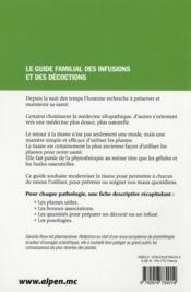 Les vertus des tisanes - 4ème de couverture - Format classique
