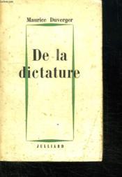 De La Dictature. - Couverture - Format classique