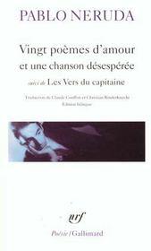 telecharger Vingt poemes d'amour et une chanson desesperee – les vers du capitaine livre PDF/ePUB en ligne gratuit