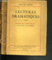 Lectures Dramatiques - Chronique Theatrale (D'Eschyle A Giraudoux) - Couverture - Format classique