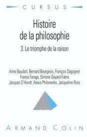 Histoire de la philosophie - Couverture - Format classique