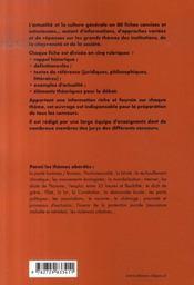 80 fiches d'actualité et de culture générale ; tous concours (3e édition) - 4ème de couverture - Format classique