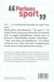 Parlons sport - 4ème de couverture - Format classique