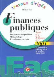 Travaux diriges de finances publiques - Intérieur - Format classique