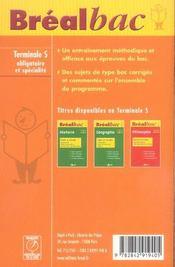 Obligatoire et specialite - 4ème de couverture - Format classique