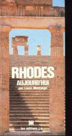 Rhodes Aujourd'Hui - Couverture - Format classique
