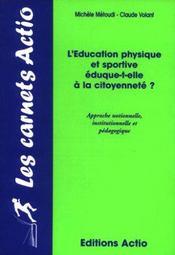 L'éducation physique et sportive éduque-t-elle à la citoyenneté ? - Intérieur - Format classique