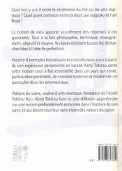 Katas - Kenji Tokitsu - 4ème de couverture - Format classique